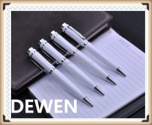 gift white metal ball pen for business,superior quality metal ball pen