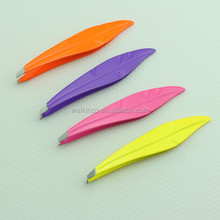 Various Color Available Stainless Steel Slant Tip Cosmetic Tweezers