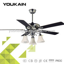 53-YJ055 Home appliance Chrome-plating design ceiling fan with lamps