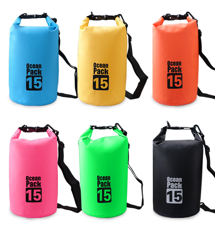 Custom logo 500D PVC MESH outdoor ocean pack waterproof dry bag 5L