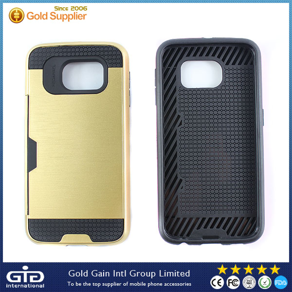 Funda With Card Slot Case For Samsung For Galaxy S6 Cover