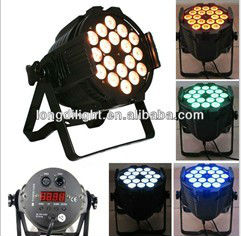 18 x 3W RGB led par light led par64 stage lighting edison professional dj equipment dj equipment factory