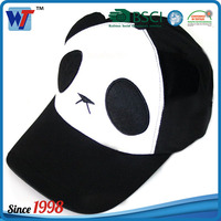 5 panels panda baseball cap lovely panda cap plush cap