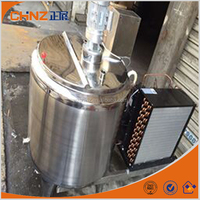 vertical type milk chilling vessel, milk cooler for dairy farm