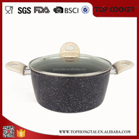 Long Term Cooperate Supplier Marble Forged insulated hot casserole pot