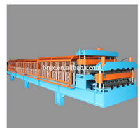 2016 hot product steel fold machine and double layer roof panel roll forming machine with high quality for sale
