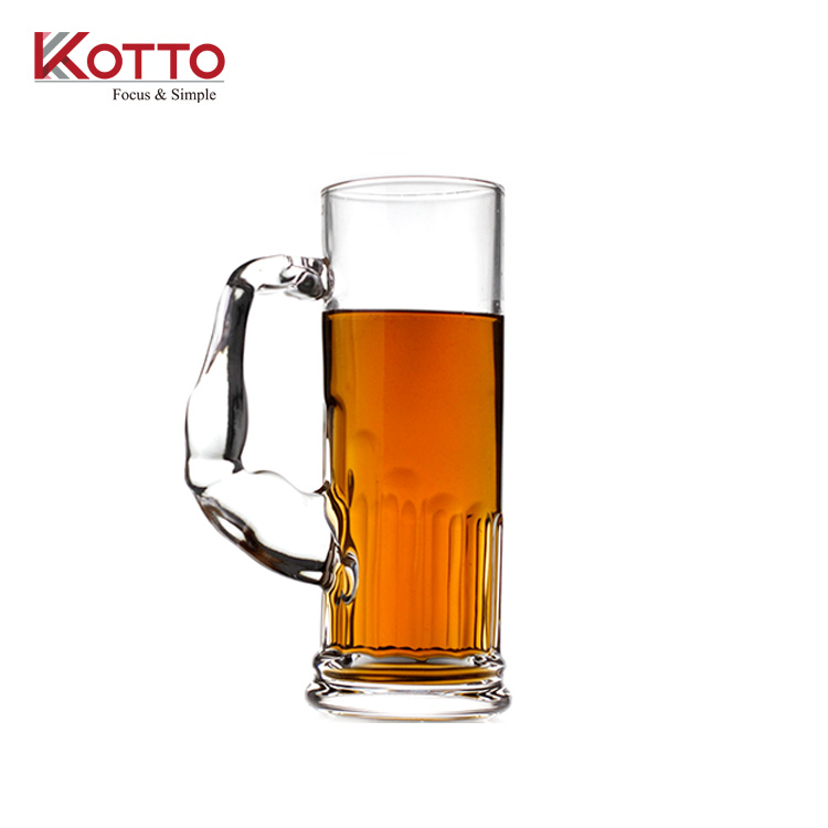 600ml Hot selling Creative large-capacity glass beer mug