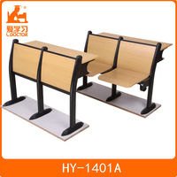 folding wood seat school desk and chair