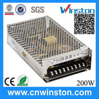 Top level professional S-200-5 200W 5V 40A ac dc switching power supply