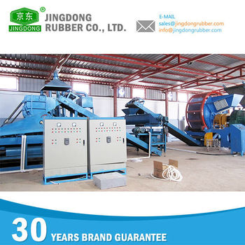 High efficient semi-auto Used waste tire recycling machine