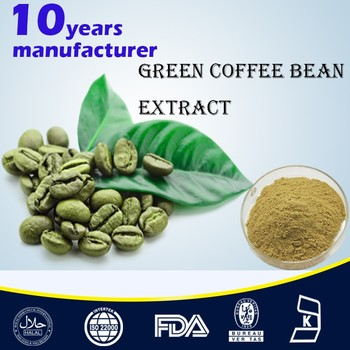 100% Pure Natural Green coffee bean extract weight loss capsule ISO22000,HALAL,KOSHER