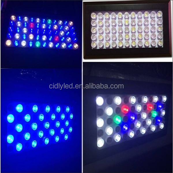 165 watt programmable coral reef full spectrum led lighting aquarium led lights 55x3w