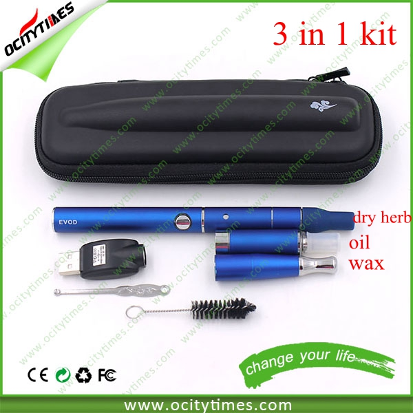 Max vapor electronic cigarette singapore evod mt3 blister pack/vaporizer ego c5 kit/dry herb wax 3 in 1 kit