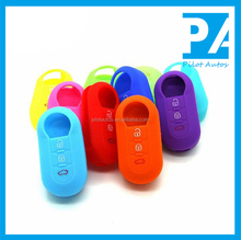 Facttory Wholesale Exclusive Colorful Silicone Car Key Cover For Fiat 500 Tipo fold 3 buttons Without Logo