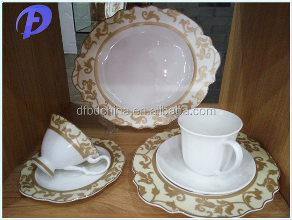 luxury royal fine bone china dinner set made in china