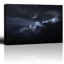 a led canvas quiet country painting, light up canvas printing with twinkling star design
