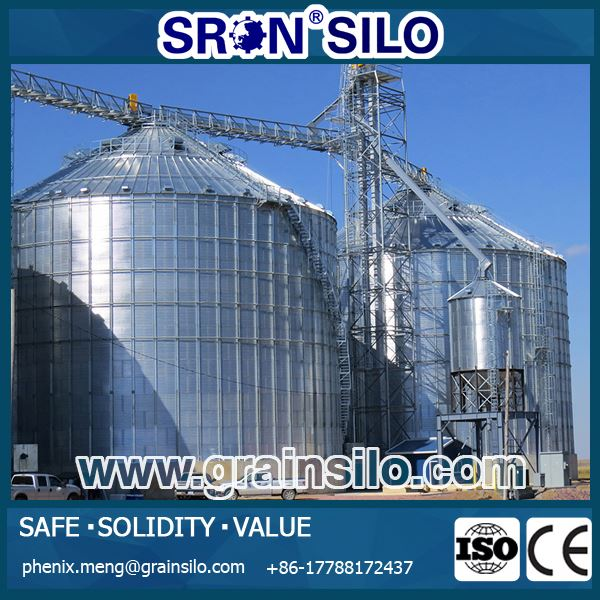 China Brand SRON Steel Silo Used For Grain Storage Plant For Sale