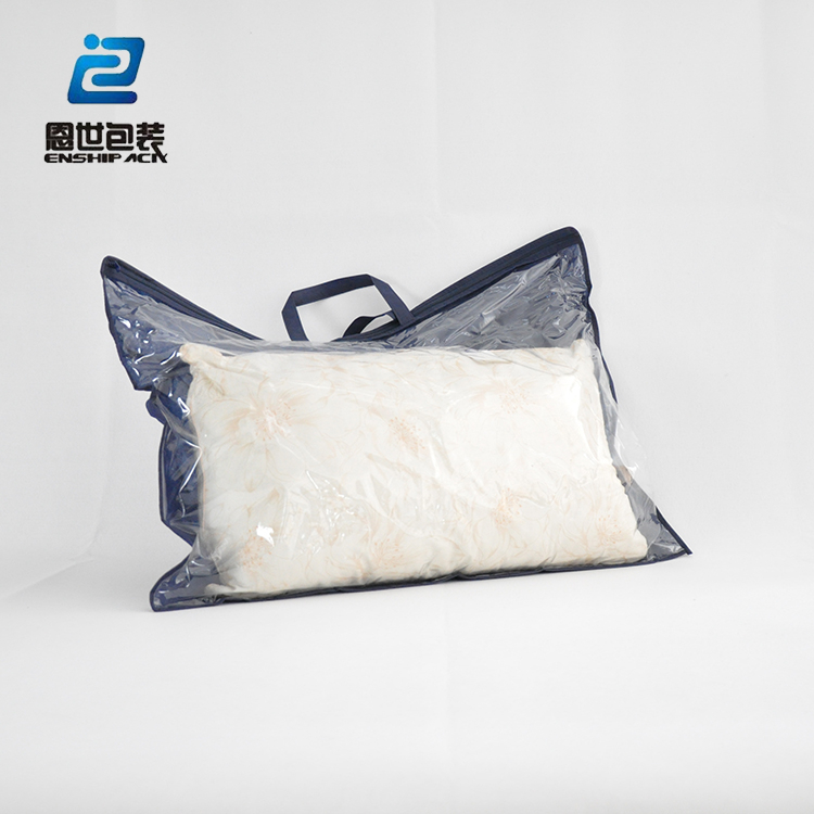 plastic and non-woven material soft pillow packing bag