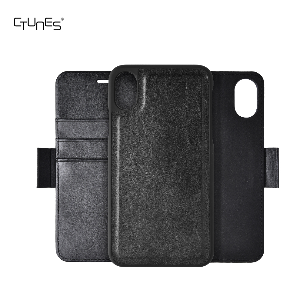 C&T Detachable Leather Wallet Folio Case Book Design With ID Credit Card Slots Magnetic Closure For iPhone X