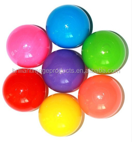 5.5 cm 5cm Wholesale Bulk Clear Plastic Ball Pit Balls For Ball Pools