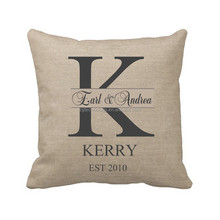 Beautiful Fashional Throw Pillow Cases For K Large Alphabet Design