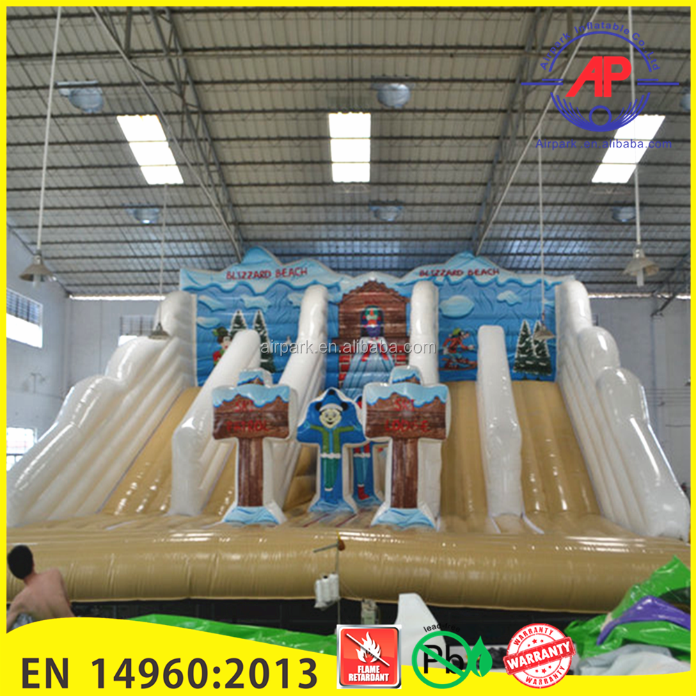 Airpark Outdoor Event Inflatable Snow Winter Slides Bouncer