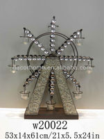 Metal Windmill Table Candle Holder