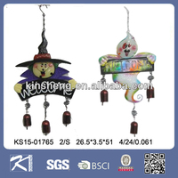 New Metal Halloween hanging witch and white ghost for home decoration