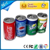 portable multimedia mp3 beer shaped coke tin can speaker