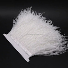Cheap Ostrich Feather Fabric Fringe Trim for Skirt