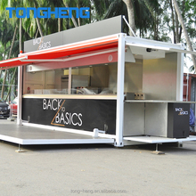 Concession trailer mobile food kitchen, Portable 20ft shed shipping container coffee shop