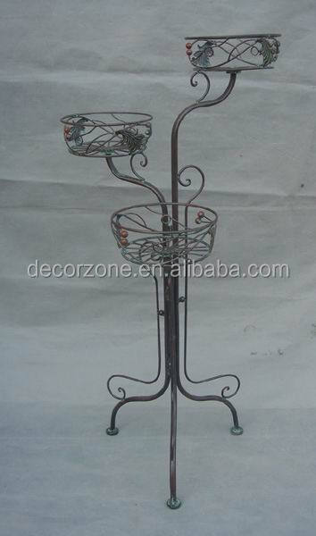 3 Tier Indoor Antique Wrought Iron Plant Stand
