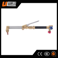 UWELD High quality oxy acetylene three steel pipes gas cutting torch for welding