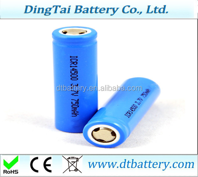 14500 lithium battery on the 5th AA 750mah 3.7V rechargeable lithium battery