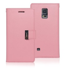 personalized mobile phone cover for samsung S5 Mercury wallet leather case