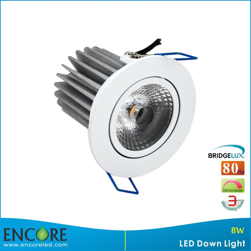 Shenzhen 8W Dimmable Aluminum Frame LED Down Light, Newest Home Designed LED COB Downlight