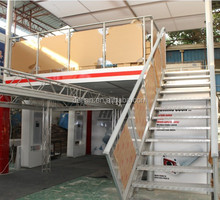 double deck display stand/two story booth/double deck booth