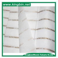 Thin White tissue wrapping paper with metallic rose gold logo