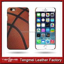 for Apple iphone 6 pu leather phone case Snap basketball pattern