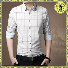 Plaid Shirts Wholesale China/Extra Tall Fitted Mature Men's Plaid Shirts