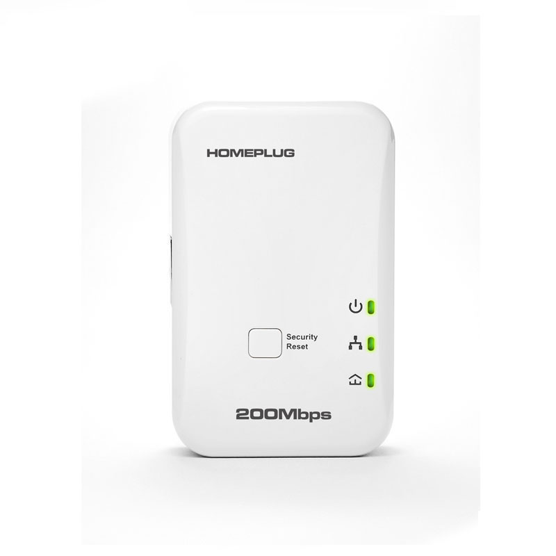 EU UK US Plug 200Mbps Ethernet Port PowerLine Adapter Home Plug AV PLC Power Line Network Extender Adapter