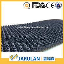 black rough corrugated top rubber conveyor belt for express/clothing industry