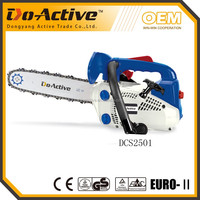"25.4CC gasoline chain saw with 10"" bar and chain"
