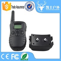 Good quality waterproof remote control dog training no bark collar with two collars