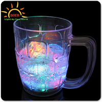 Beer drinkware 600 ml led flashing plastic beer cups for party and bar