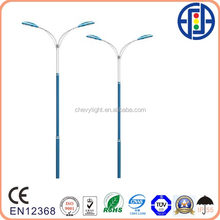 lamp poles with 2-arm for street lights