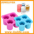 4 cups shot silicone custom glass ice cup mold