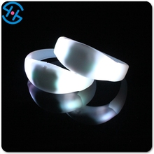 Custom Party Light Up Sound/motion Activated Remote/radio/rfid Controlled Flashing Led Bracelet/wristband/bangle For Promotion