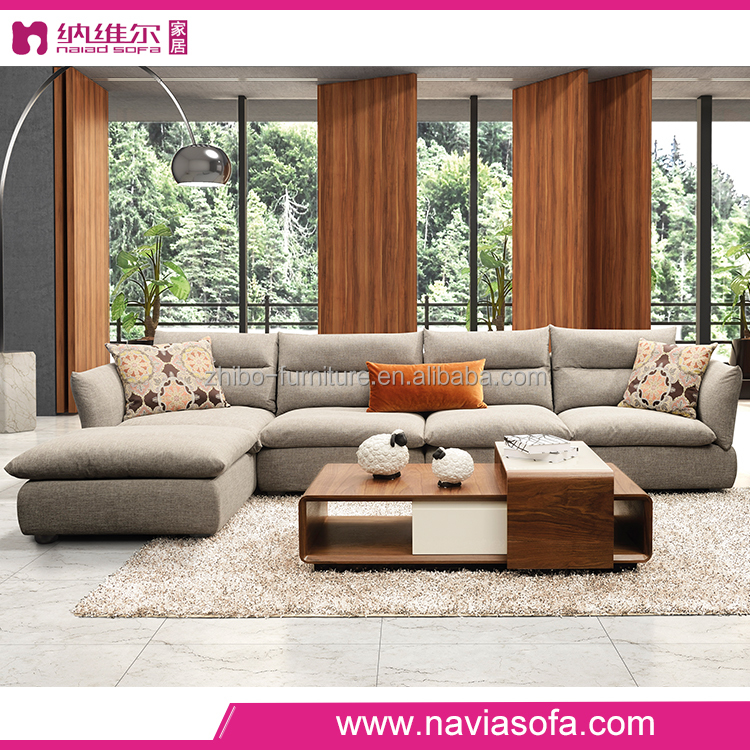 Modern italian furniture simple style cheap general use living room l shape turkish fabric sofa