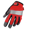 Palm- microfiber with foam padding Back- spandex safety pvc dotted glove